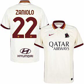 20-21 AS Roma Away Shirt + Zaniolo 22 (Official Printing)
