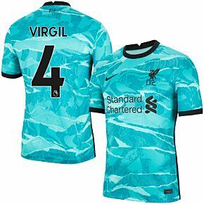 20-21 Liverpool Away Shirt + Virgil 4 (Premier League)