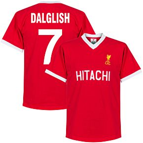 1978 Liverpool Home Retro Shirt + Dalglish 7 (Retro Style Printing)