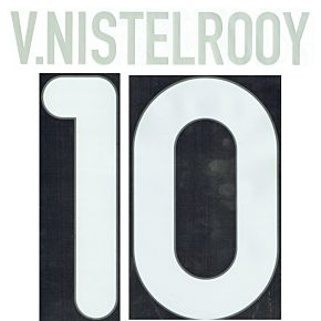V. Nistelrooy 10 00-01 PSV Eindhoven Home Official Name and Number