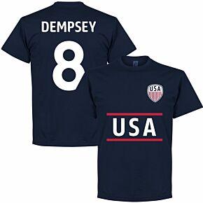 USA Dempsey Team Tee - Navy