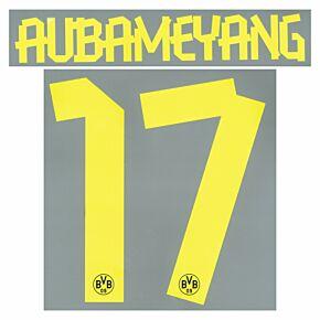 Aubameyang 17 - Boys Borussia Dortmund Away Official Name & Number 2013 / 2014
