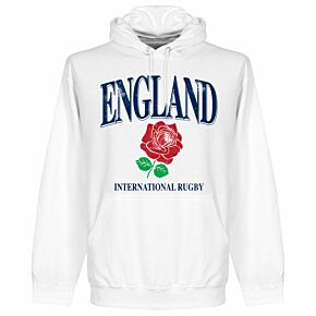 England Rose International Rugby Hoodie - White