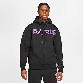 2021 PSG x Jordan FZ Fleece Top - Black