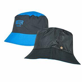 21-22 Inter Milan Reversible Bucket Hat - Black/Blue