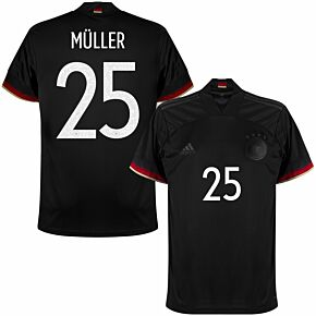 2021 Germany Away Shirt + Müller 25 (Official Printing)