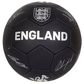 England Signature Ball - Black/Silver - (Size 5)
