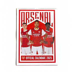 2021 Arsenal Official A4 Calendar