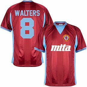 984 Aston Villa Home Retro Shirt + Walters 8 (Retro Flex Printing)
