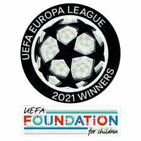 21-2 UEL Starball Titleholder +  UEFA Foundation Patch Set