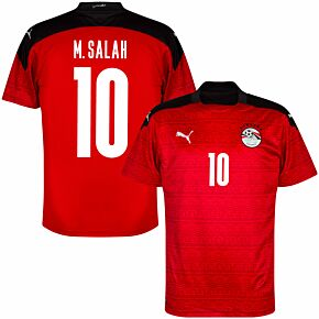 20-21 Egypt Home Shirt + M.Salah 10 (Official Printing)