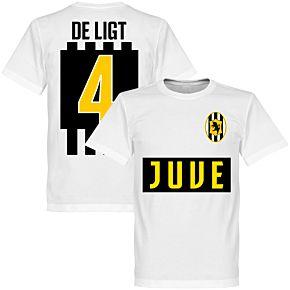 Juve De Ligt 4 Team T-shirt - White