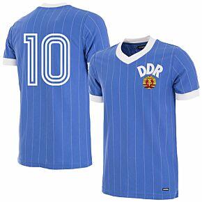 1985 DDR Home Retro Shirt + No.10 (Retro Flock Printing)