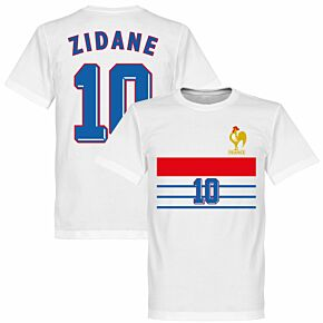 France 1998 Zidane 10 Retro Tee - White