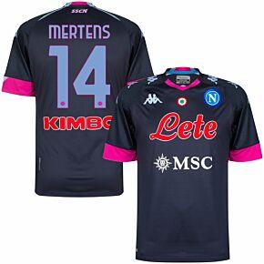 20-21 Napoli 3rd Shirt + Mertens 14 (Official Printing)