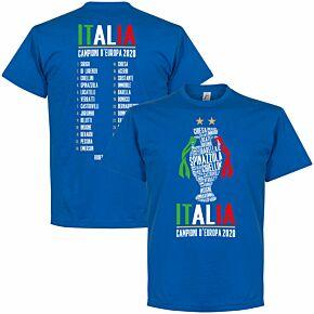 Italia Champions of Europe 2020 Squad T-shirt - Royal