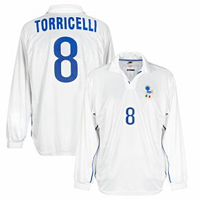 Nike Italy 1998-1999 Away Long-Sleeve Torricelli No.8 Jersey - NEW - Kitroom Stock - Size Large