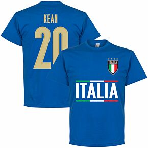 Italy Kean 20 Team T-shirt - Royal