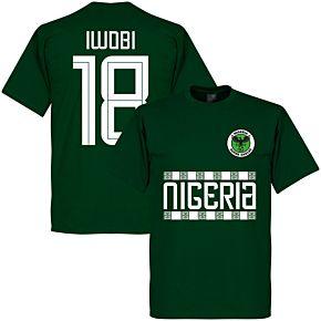 Nigeria Iwobi 18 Team Tee - Bottle Green