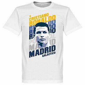 Ronaldo Madrid Portrait KIDS Tee - White