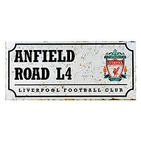 "Liverpool Retro Street Sign (7"" x 15"")"