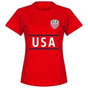 USA Team Womens Tee - Red