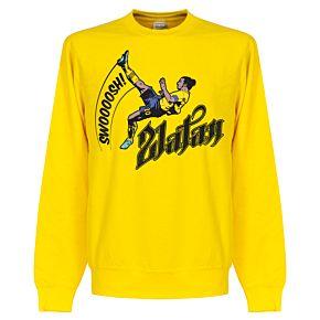 Zlatan Ibrahimovic Bicycle Kick Sweatshirt - Yellow
