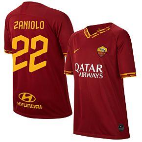 19-20 AS Roma Home Shirt - Kids + Zaniolo 22 (Fan Style)