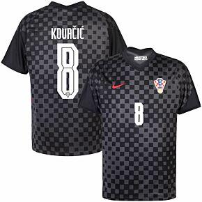 20-21 Croatia Away Shirt + Kovačić 8 (Official Printing)
