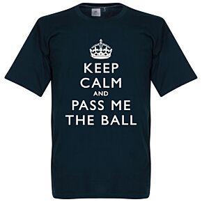 Keep Calm And Pass Me The Ball Tee - Navy