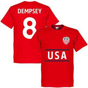 USA Dempsey Team Tee - Red