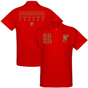 Liverpool Allez Allez Allez Polo Shirt - Red