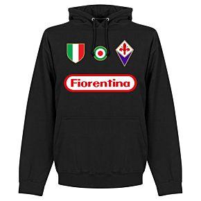 Fiorentina Team Hoodie  - Black
