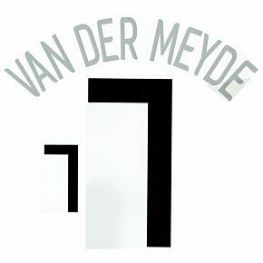 Van der Meyde 7 - 06-07 Holland Home Official Name and Number Transfer