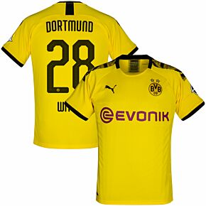 Puma Borussia Dortmund Home Witsel 28 Jersey 2019-2020 (Official Printing)