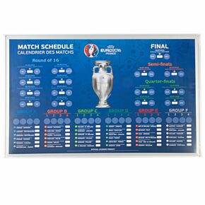 Official Euro 2016 Magnetic Scoreboard with 24 National Badges