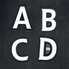 07-13 Premier League Players SensCilia Letters - White -53mm