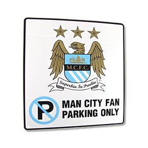 Manchester City 'No Parking' Metal Sign