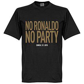 No Ronaldo No Party Tee - Black