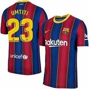 20-21 Barcelona Vapor Match Home Shirt + Umtiti 23 (Official Pro Size)