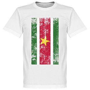 Suriname Flag Tee - White