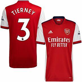 21-22 Arsenal Home Shirt + Tierney 3 (Premier League)