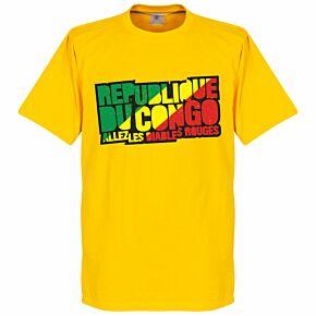 Congo Republic Logo Tee - Yellow