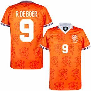 1994 Holland Home Retro Shirt + R De Boer 9 (Retro Flock Printing)