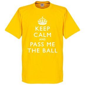 Keep Calm And Pass Me The Ball Tee - Yellow