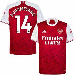 20-21 Arsenal Home Shirt + Aubameyang 14