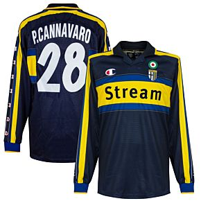 Champion Parma 1999-2000 Away Jersey L/S - Player Issue - NEW Condition Cannavaro 28