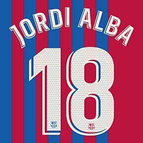 Jordi Alba 18 (Official Printing) - 21-22 Barcelona Home
