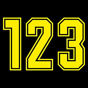 Keyline Style Yellow Flock Numbers