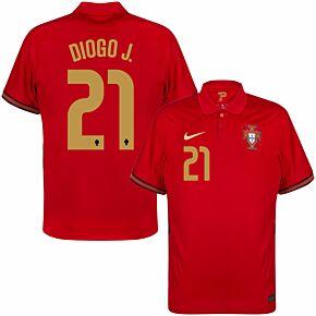 20-21 Portugal Home Shirt + Diogo J. 21 (Official Printing)